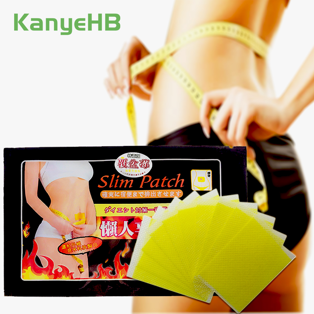 10pcs/bag Slimming Patch Navel Slim Stickers Weight Loss Burning Fat Efficacy Chinese Herbal Medical Plaster H001