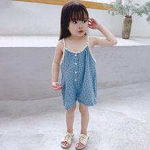Летняя модная верхняя одежда для детей с узором в горошек без