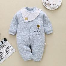 Детские комбинезоны; сезон осень-зима; утепленная хлопковая Теплая стеганая Одежда для новорожденных; комбинезон; одежда для малышей