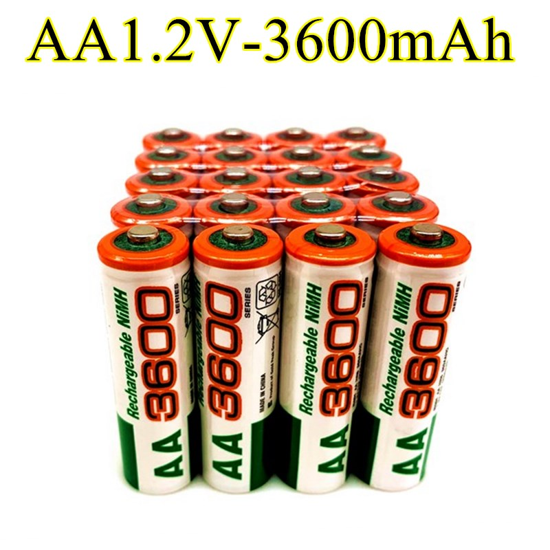 2020 Dolidada 100% новая AA батарея 3600 мАч перезаряжаемая батарея, 1,2 в Ni-MH AA батарея, подходит для часов, мышей, компьютеров