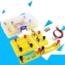 цена на Students Kids Circuit Toy Experimental Equipment Electricity Discovery School Lab Box Early Education Toy