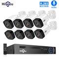 H.265 аудио 8CH 1080P POE NVR CCTV система безопасности 4 шт. 2-мегапиксельная запись POE ip-камера ИК комплект наружного видеонаблюдения 1 ТБ HDD