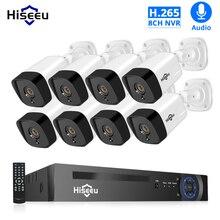 H.265 Audio 8CH 1080P POE NVR CCTV Security System 4PCS 2MP Record IP Camera IR Outdoor Video Surveillance Kit 1TB HDD