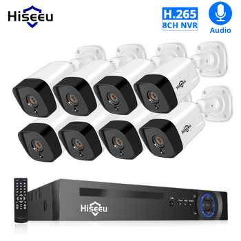 H.265 Audio 8CH 1080P POE NVR CCTV Security System 4PCS 2MP Record POE IP Camera IR Outdoor Video Surveillance Kit 1TB HDD moosafe 4ch 1080p poe nvr kit 4pcs 720p outdoor ip camera p2p onvif ir security cctv system video surveillance kits with 1tb hdd
