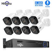 H.265 Audio 8CH 1080P POE NVR CCTV Sistema di Sicurezza 4PCS 2MP Record POE IP Della Macchina Fotografica di IR Video Esterno kit di sorveglianza 1TB HDD