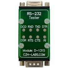 CZH LABS RS232 LED Link Tester Module, DB9 Male to DB9 Female.
