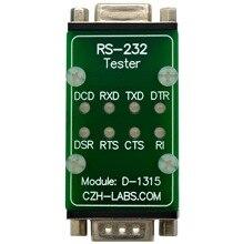 CZH LABS RS232 LED Link moduł testowy, DB9 męski na DB9 kobiet.