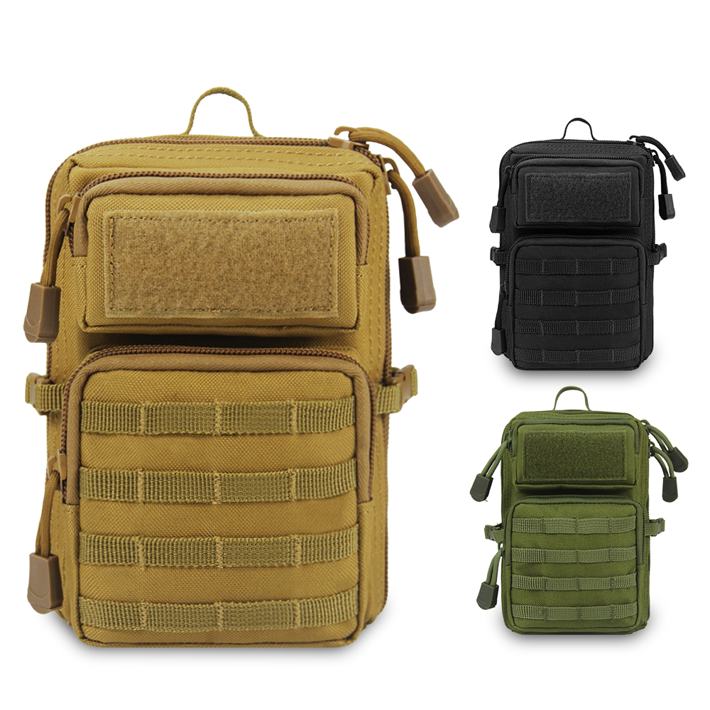 Tactical Shoulder Bag Military Molle Backpack 600D Outdoor Phone Pouch EDC Utility Accessory Pack Hunting Hiking Daypack