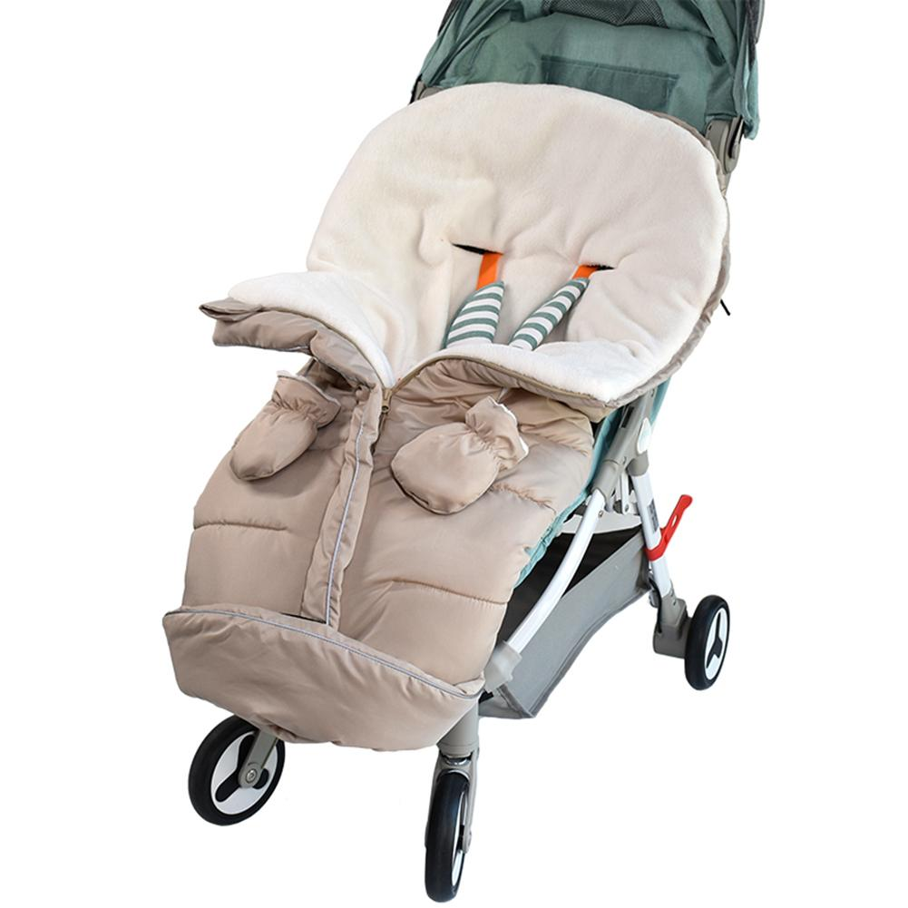 Universal Thicken Stroller Warm Sleeping Bag Footmuff Cover Sack Warm Blanket Cushion Windproof Car Seat Stroller Cold Winter