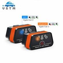 Vgate icar2 elm327 wifi/bluetooth obd2 ferramenta de diagnóstico para ios/android/pc icar 2 bluetooth wifi elm 327 obdii leitor de código