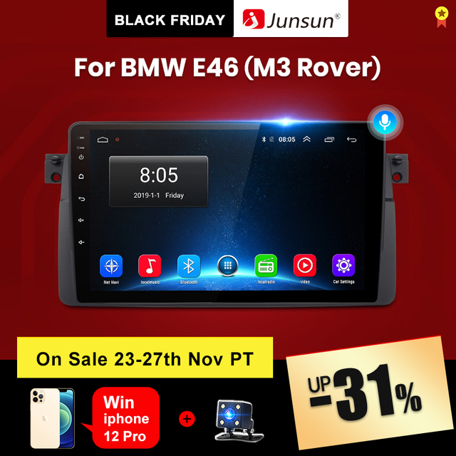 Junsun V1 pro 2G+128G Android 10 For BMW E46 M3 Rover 75 MG ZT Car Radio Multimedia Video Player Navigation GPS 2 din dvd