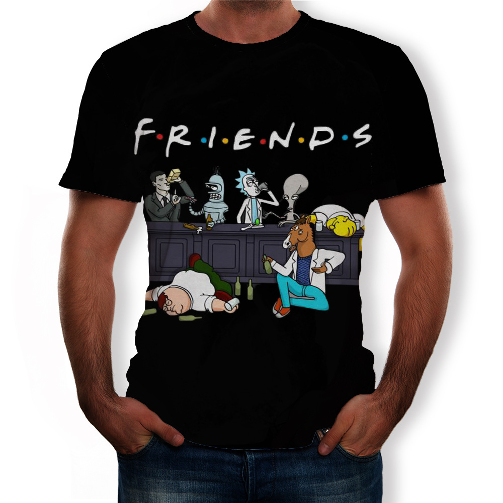 2020 Summer New Men Funny Tees Plus Size 6XL Homme Rick And Morty Cartoon Anime 3D Degital Printed Short Sleeve O Neck T Shirts