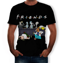 2020 Summer New Men Funny Tees Plus Size 6XL Homme Rick And Morty Cartoon Anime 3D Degital Printed S