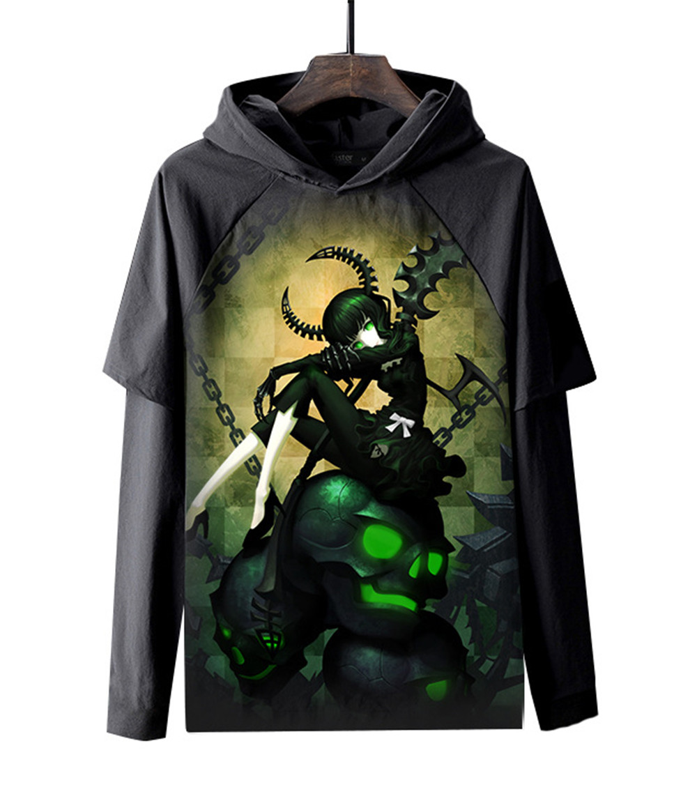 Winter New Men Women Sweatshirt 3D Print Anime Black Rock Shooter Hoodie Long Sleeve Top Harajuku Pullover