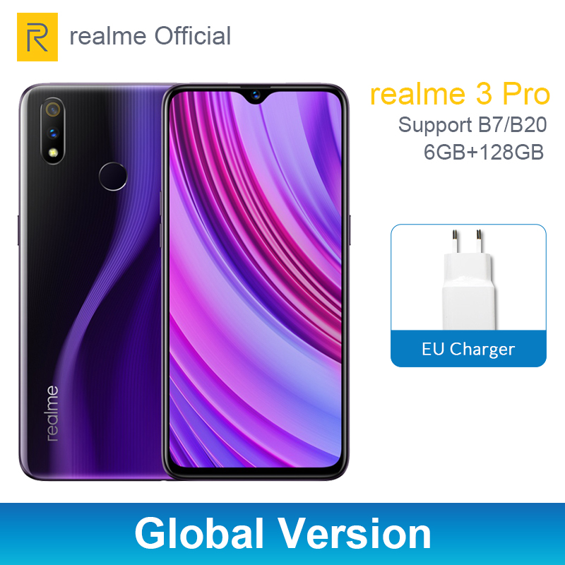 Realme 3 Pro Global Version 6GB RAM 128GB ROM Snapdragon 710 AIE Smartphone 4045mAh Battery Cellphone VOOC Fast Charge 3.0