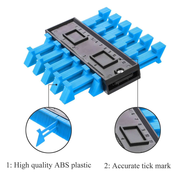 moldar medida régua plástico contorno duplicador para