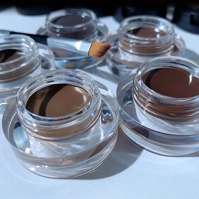 SANIYE 2 in1 Eyebrow Gel Waterproof Powder Eye Brow Gel Cream With Brush Eyebrow Enhancers Cosmetic Eye brow Tint Pomade 4