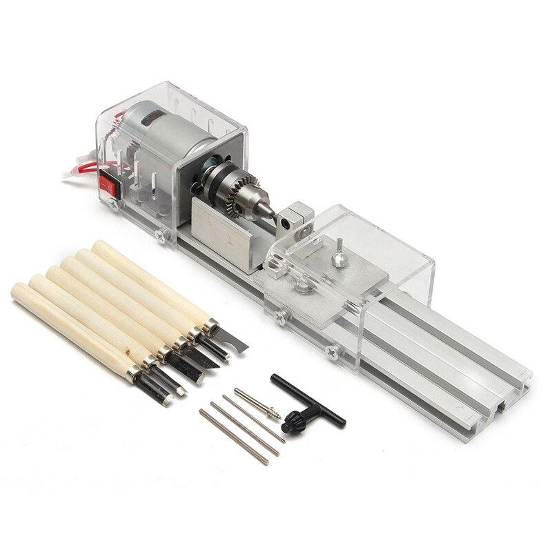100W CNC Mini tour machines-outils bricolage travail du bois tour à bois fraiseuses meulage perles de polissage perceuse ensemble d'outils rotatifs K