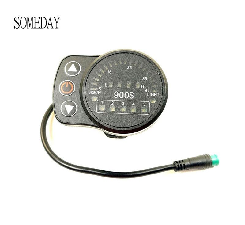 Electric Bicycle Ebike LED Display Intelligent Control Panel Electric Scooter Display Meter 24V/36V/48V KT-LED900S Electric Bike
