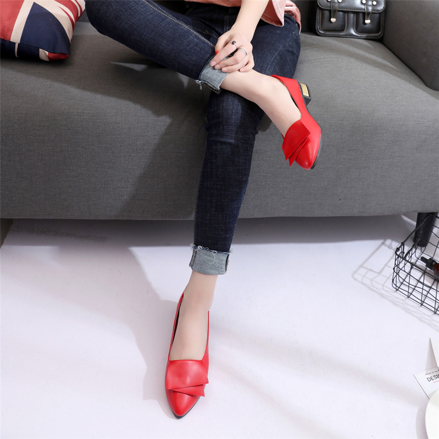 2020 New Women Office Shoes Pumps Wedding Office Lady Dress Pointed Shoes Slip Shallow Leather Lightweight Soft Shoes for Ladies