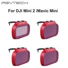 PGYTECHตัวกรองเลนส์UV ND 8 16 32 64สำหรับDJI Mini 2ชุดกรองสำหรับDJI Mavic Mini ND8 ND16 ND32 ND64
