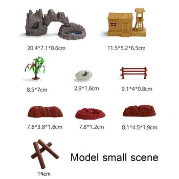 Sand Table Model Accessories Home Decoration ABS Plastic Wood Dinosaur Cave Table Stone Model Egg Tree Sand F8E3 image