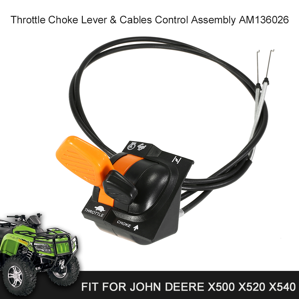 Durable Throttle Control Cable Assembly AM136026 For JOHN DEERE X500 X520 X540