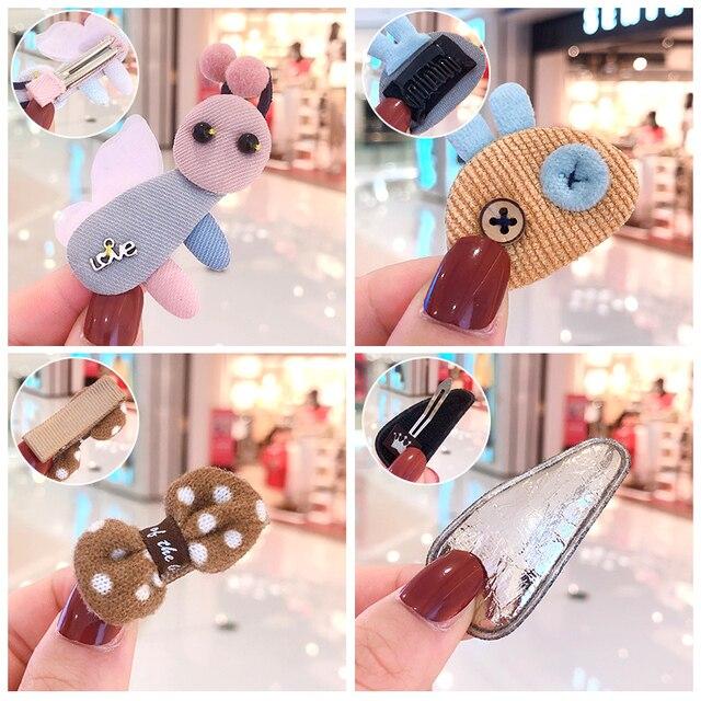 10 Pcs/Bag New Girls Baby Cute Cartoon Fresh Fruit Flower Bow Hair Clips Girls Colorful Knitting Hairpins Kids Hair Accessories