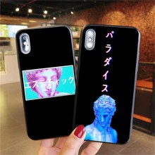 Art Statue Aesthetic Silicone Case For iPhone XS MAX X XR Pro 6 6S 7 8 Plus black S oft TPU Phone