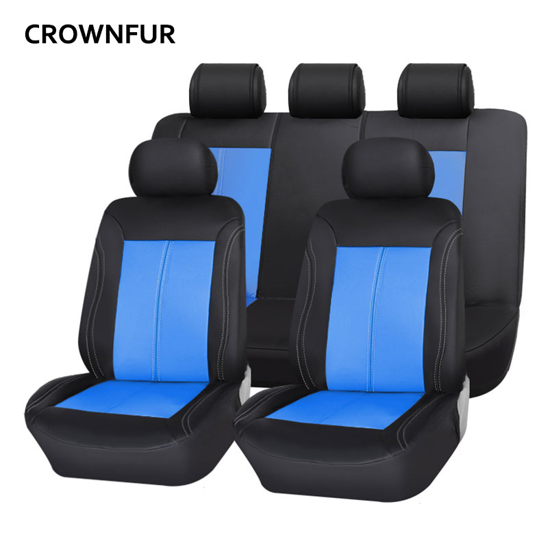 Leather Car Seat Cover Universal Luxury Automotive interior Suitable for most cars High quality PU Anti-dirty car seat covers simple knitted pu leather rope bracelet for men