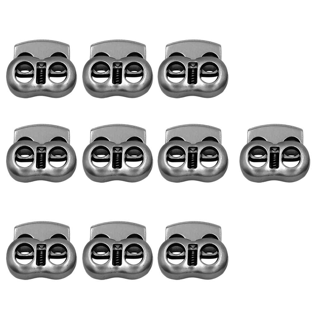 10x Gray Metal 2 Hole Bean Cord Locks Clamp Toggle Stop Slider For Paracord Elastic Cord Accessory Cordage Drawstrings Aliexpress