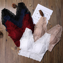 New Fashion Ladies Big Size 3/4 Cup Lace Push Up Bra Black Bralette Deep V Womens Bras Underwear Large Hot Selling