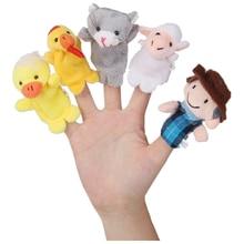 10pcs Old MacDonald Farm Animals Finger dolls Children Prefer Toys hand puppet finger toys for children Baby Boys girl