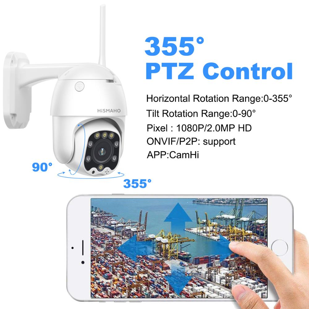 Image 4 - 1080P PTZ IP Camera CamHi Two Way Audio Wireless Wifi Security Camera IR Network 2MP CCTV Surveillance Outdoor Onvif-in Surveillance Cameras from Security & Protection