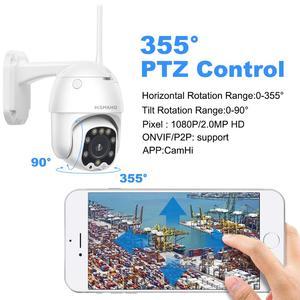 Image 4 - 1080P PTZ كاميرا IP كاميرا اتجاهين الصوت اللاسلكية كاميرا أمان لاسلكية IR شبكة 2MP CCTV المراقبة في الهواء الطلق Onvif