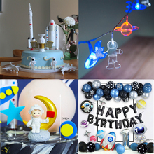 7 sztuk zestaw prom kosmiczny astronauta aeronautyczny Model eksploracja rakieta scena ozdoby ozdoba na wierzch tortu gracz urodziny ciasto Decorat tanie tanio Z tworzywa sztucznego Wielkie Wydarzenie Birthday party Cartoon zwierząt Chłopiec i Dziewczynka