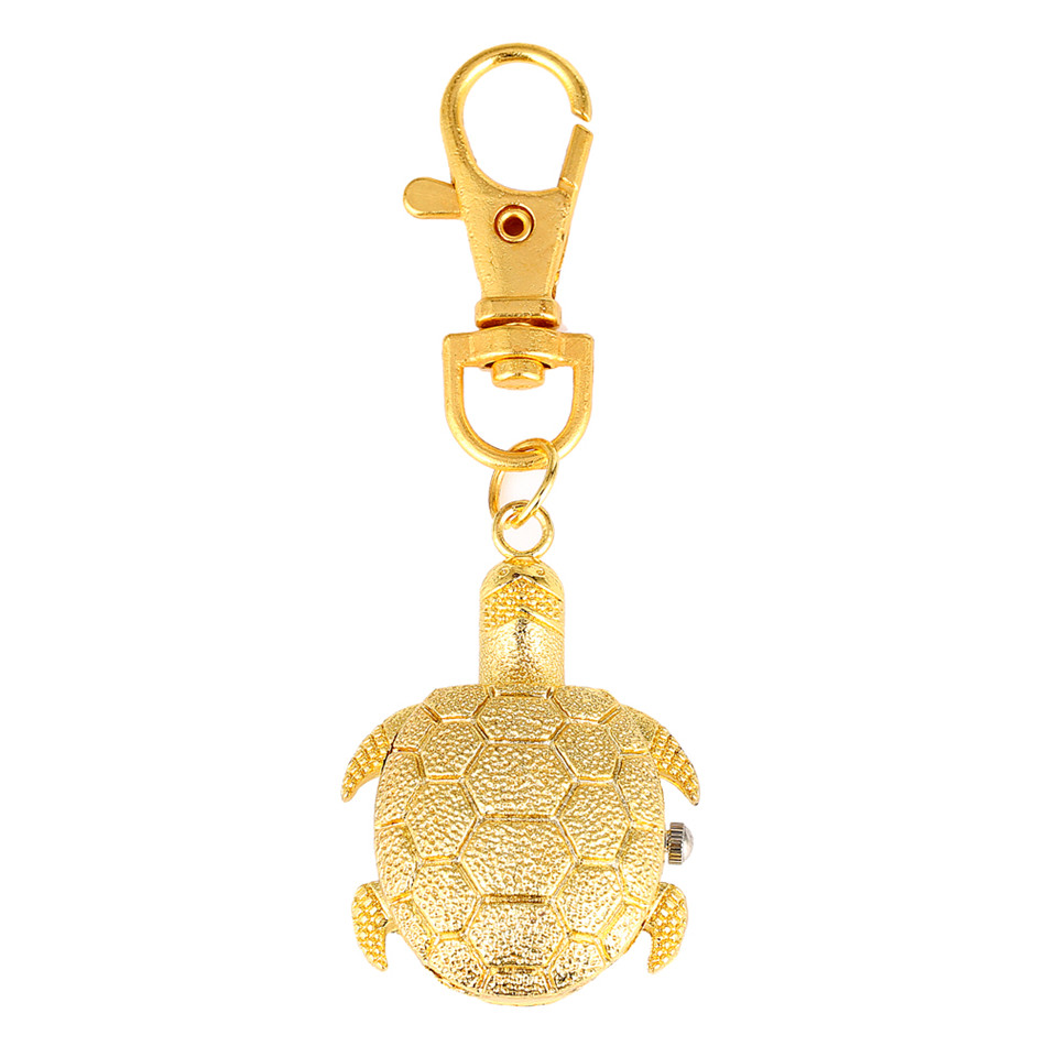 Creative Keychain Little Size Retro Tortoise Owl Motorcycle Hat Design Quartz Pocket Watches Gifts For   Men Women Kids
