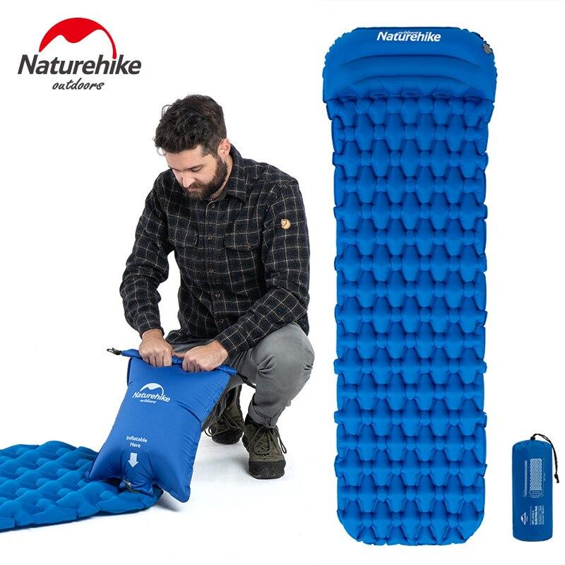Naturehike Inflatable Mattress Single Camping Mat Air Mattress Ultralight Hiking Sleeping Pad Folding Bed Travel Sleeping Mat