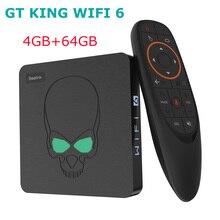 2020 apagado Beelink GT rey WIFI 6 Amlogic S922X Android 9,0 Dispositivo de Tv inteligente 4GB DDR4 de 64GB y 2,4G 5G Wifi 1000Mbps Bluetooth 4K reproductor de medios