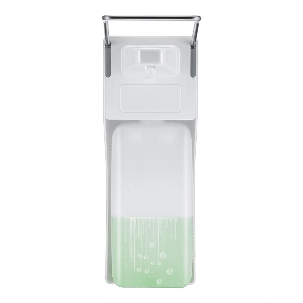 Image 4 - Distributeur manuel de savon en ABS  Pompe à savon à pression sur le coude, distributeur désinfectant mural pour la maison, hôpital, salle de bain, hôtel, 1000mlDistributeurs de savon liquide   -