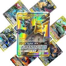 Tomy 200 pces gx pokemon tag equipe lote de cartão com 80tag equipe 20mega 20 ultra besta gx