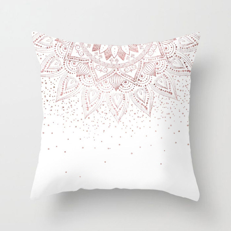 H22537239cd7e440b9375325017803823R New 1PC Popular Cushion Case Geometric Tropic Pineapple Nordic Sofa Pink Pillow Decorative