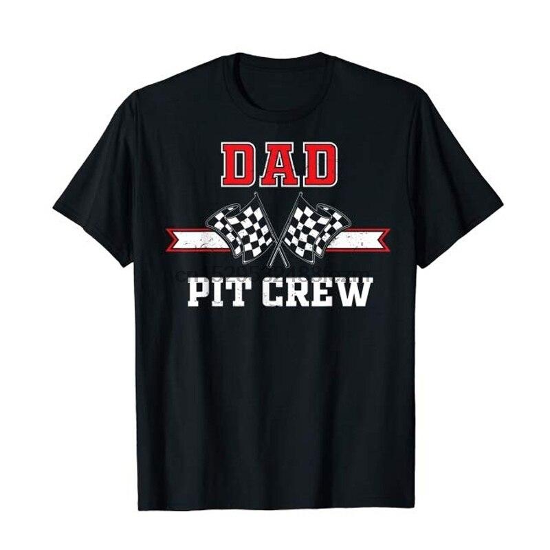 Пит экипажа папа гонки на день рождения вечерние папа подарок футболка для мужчин Модный летний комплект с футболкой