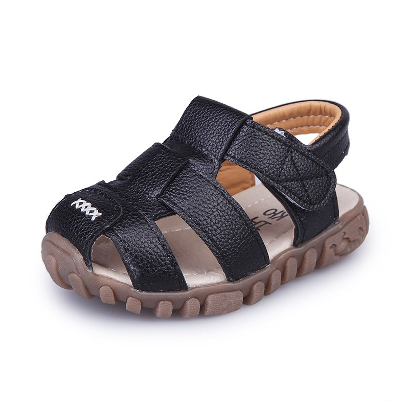 2020 New Summer Baby Boy Shoes Kids Beach Sandals For Boys Soft Leather Bottom Non-Slip Closed Toe Safty Shoes Children Shoes