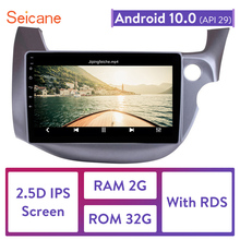 "Seicane 10.1 ""Android 10.0 2din araba kafa ünitesi radyo çalar GPS navigasyon 2007 2008 2009 2010 2011 2016 HONDA FIT JAZZ RHD"