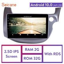 Seicane Radio con GPS para coche, Radio con reproductor, Android 10,1, 2DIN, navegador, para HONDA FIT JAZZ RHD, 10,0, 2007, 2008, 2009, 2010