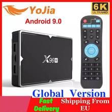 2020 X96H 스마트 TV 박스 안드로이드 9.0 4GB RAM 64GB ROM X96 미니 6K 미디어 플레이어 Allwinner H603 Youtube 2G/16G 셋톱 박스