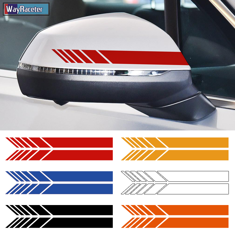 WHITE OR BLACK AUDI 2 x Wing Mirror DECALS VINYL STICKERS For all Models