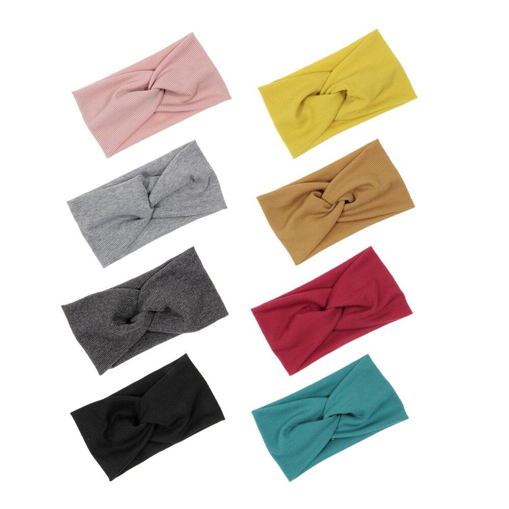 Повязка для волос Yundfly из хлопка, спиральные двойные тканевые вязаные украшения, модные головные уборы для девочек, аксессуары для волос