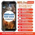 OUKITEL WP5 Pro IP68 8000 мА/ч, Водонепроницаемый Смартфон Android 10 тройной Камера уход за кожей лица/функцией отпечатков пальцев (Fingerprint ID 5,5 дюйма 4 Гб 64 Г...